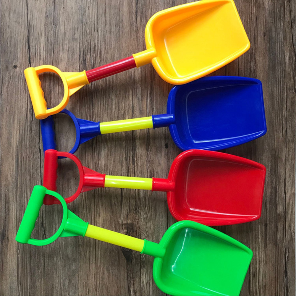 Kids Beach Toy Sand Shovel Spade Short Handle Landscape Cultivator Gardening Tool Colors Random Children Thick Plastic Shovel