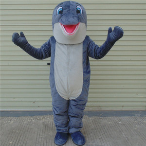 Dolphin Mascot Costumes Blue Fish Costumes Adults Christmas Halloween Outfit Fancy Dress Suit