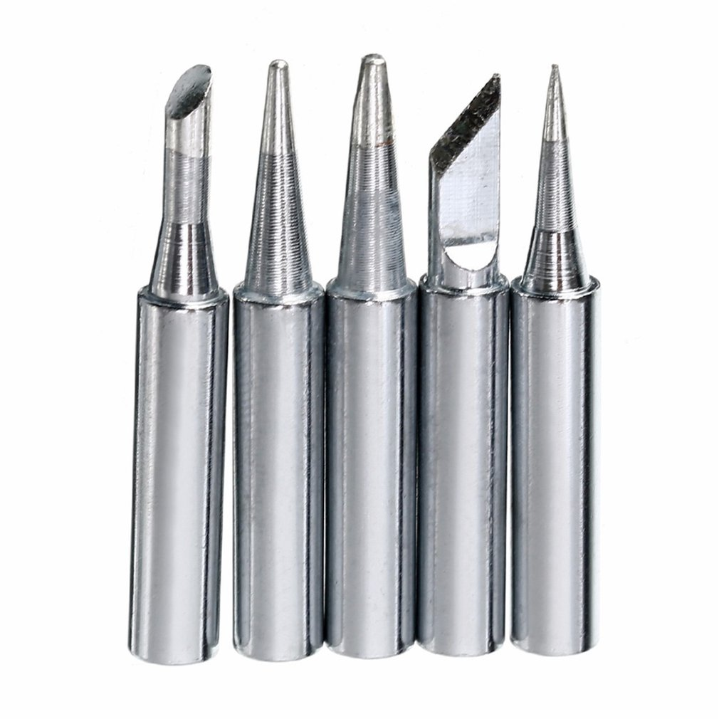 5pcs/set 900M-T Series Thermostatic Solder Iron Tips Replacement Solder Iron Head Soldering Tips Tool Soldering Repair Station