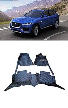 Car Styling Interior Leather Floor Mats & Carpets Car Foot Mat For Jaguar F-Pace 2016 2017 2018