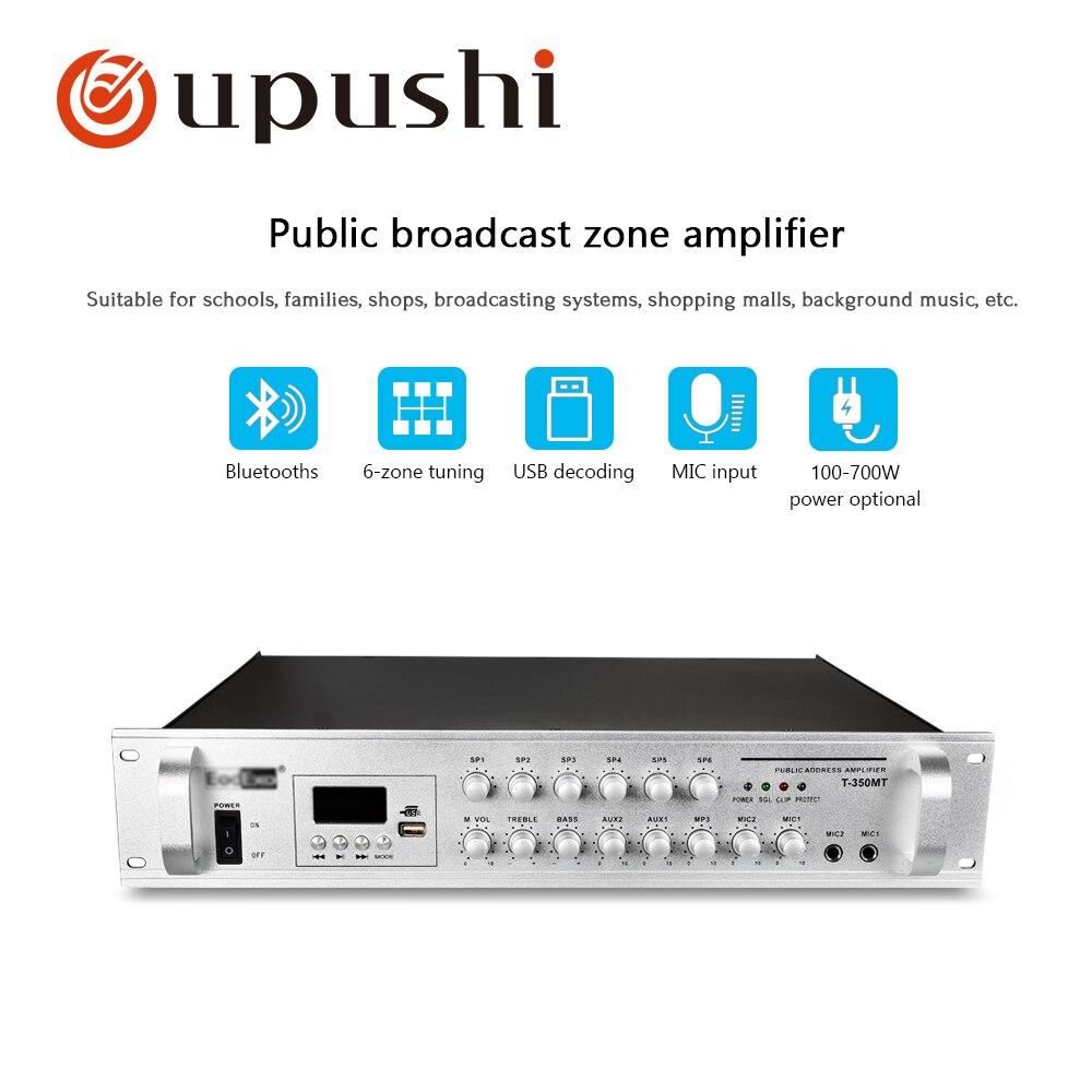 Oupushi 100-700 w 6 zone contrôle du volume avec blutooths audio professionnel puissance amplifie pour la musique de Fond système pa système