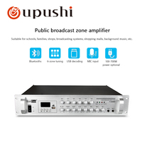 oupushi 100 700w 6zone volume control with blutooths audio professional power amplifie for Background music system pa system