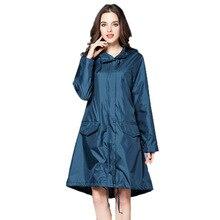 6 Colors Waterproof Women Raincoat Hooded Long Rain Jacket Breathable Rain Coat Poncho Outdoor Rainwear