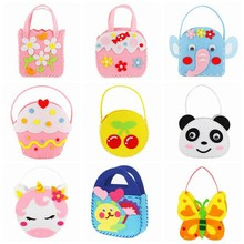 Craft Kits For Children Toy Non-woven Cloth Bag DIY Dindergarten Handmade Bags For Party Or Parent-Child Activities Toys For Kid(China)