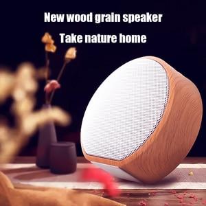 Image 4 - الخشب الحبوب سمّاعات بلوتوث المحمولة في الهواء الطلق اللاسلكية بلوتوث صغير صندوق الصوت دعم AUX TF بطاقة آيفون هواوي شاومي