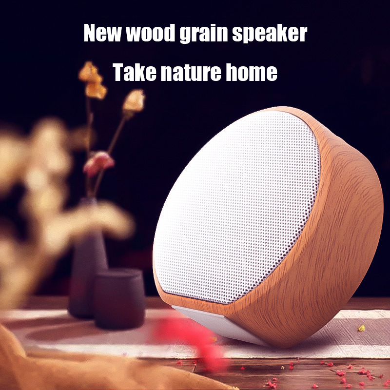 Image 4 - Wood Grain Bluetooth Speaker Portable Outdoor Wireless Mini Bluetooth Sound Box Support AUX TF Card For iPhone Huawei Xiaomi-in Portable Speakers from Consumer Electronics