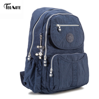 TEGAOTE Classic Big School Backpack For Teenage Girls Mochila Feminine Backpacks Women Solid Famous Nylon Casual