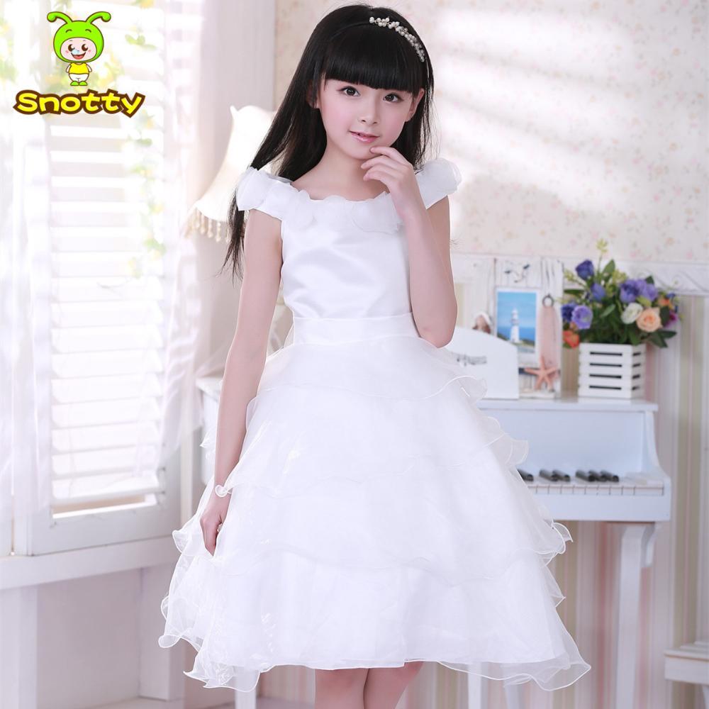 Wholesale Teenage Plain White Blank Flower Girls Birthday Party
