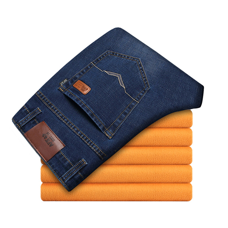 2017 spring men s classic High quality jeans men s leisure straight cotton jeans Large size