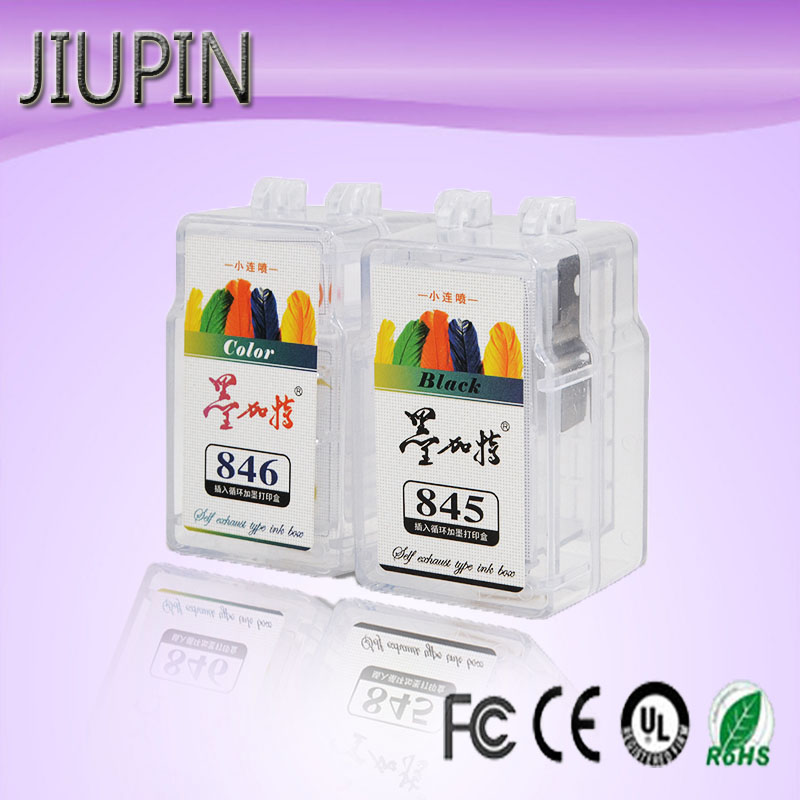 JIUPIN compatible with Canon 845 846 liner small cartridge Canon 2880s 2580s 3180 TS308 TS208 MX498 printer with inkjet cartridg