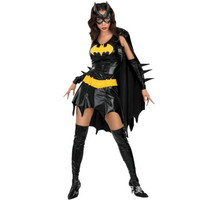 Black Batman Costume Adult Batgirl Women Halloween Costumes For Women Sexy Superhero Cosplay Mask Cape Custome