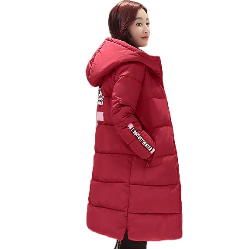 2016 High Quality Winter Jacket Women Thicken Warm Cotton-padded Jacket Fashion Hooded Wadded Coat Long Outerwear PW0998 lstu winter jacket women 2017 fashion cotton padded hooded jacket female wadded jacket outerwear winter coat women