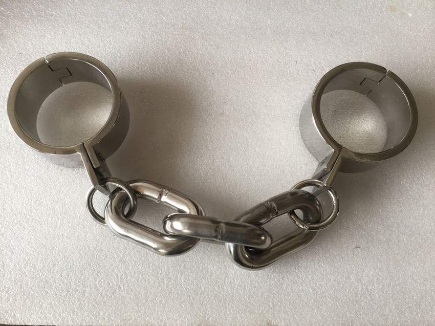 Sex Bondage Heavy Duty Metal Stainless Steel Wrist Cuffs Bondage Chain  Female/Male Hand Restraint Sex Game SM Dungeon Gear adjustable heavy duty hand gripper grips arm muscle builder wrist strengthener fitness finger forearm workout home equipment