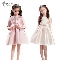 Prenses elbise iki parça bir takım düğün parti için iyi marka çocuk giyim 6 7 8 9 10 11 12 13 14 15 16 yıl genç kız