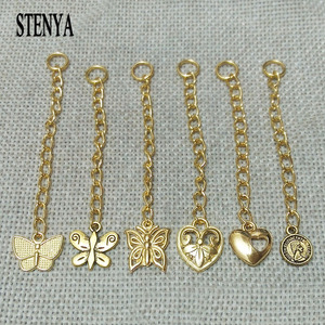 necklace ends chain tags extended extension chains tails charms connector jupm rings toggle buckles clasps hook spacer jewelry(China)