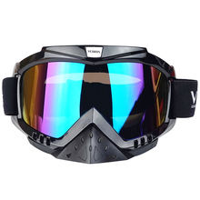 free shipping motorcycle accessories snowboard ski men outdoor motocross goggles glasses windproof Goggle with Color lenses