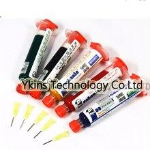 5pcs 5 color UV Curable Solder Mask 10CC for PCB Circuit board protect Soldering Paste Flux oil uv solder resist for pcb fbc board 10ml