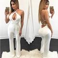 2017 Nuevas Mujeres del estilo Sexy mono Honda DeepV Hueco del vendaje de bodycon jumpsuit macacão playsuits pantalones largos monos