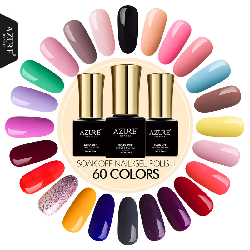 AZURE BEAUTY 7ML Nail Gel Lack Hot Sale Lucky Semi Permanent Polish Gel Lack DIY Nail Art Salon Gel Lacquer Nagellack