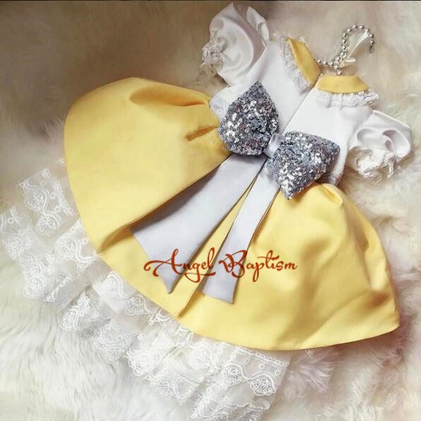Lovely yellow Puffy ball gowns peter pan collar lace baby girls princess dress toddler pageant birthday dress for evening party lovely yellow puffy ball gowns peter pan collar lace baby girls princess dress toddler pageant birthday dress for evening party