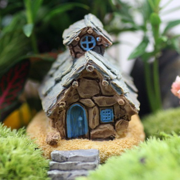 retail handmade house girls fairy garden miniatures mini gnomes moss terrariums resin crafts figurines for garden - Fairy Garden Miniatures