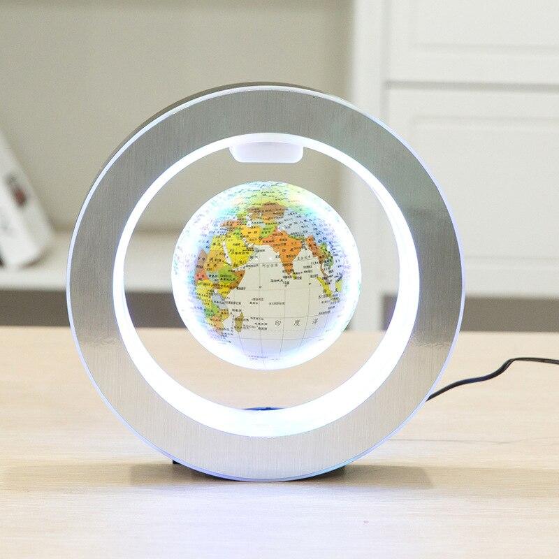 Nouvelle nouveauté décoration lévitation magnétique Globe flottant carte du monde avec lumière LED avec électro aimant et capteur de champ magnétique