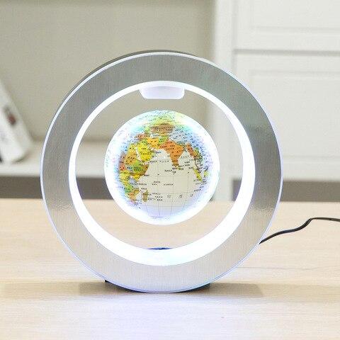 nova novidade decoracao levitacao magnetica flutuante globo mapa do mundo com luz led com ima