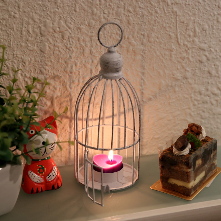 Europe Birdcage Lantern Continental Metal Candle Holders Vintage Factory Wholesale Wedding Decoration Home 2016 New Design