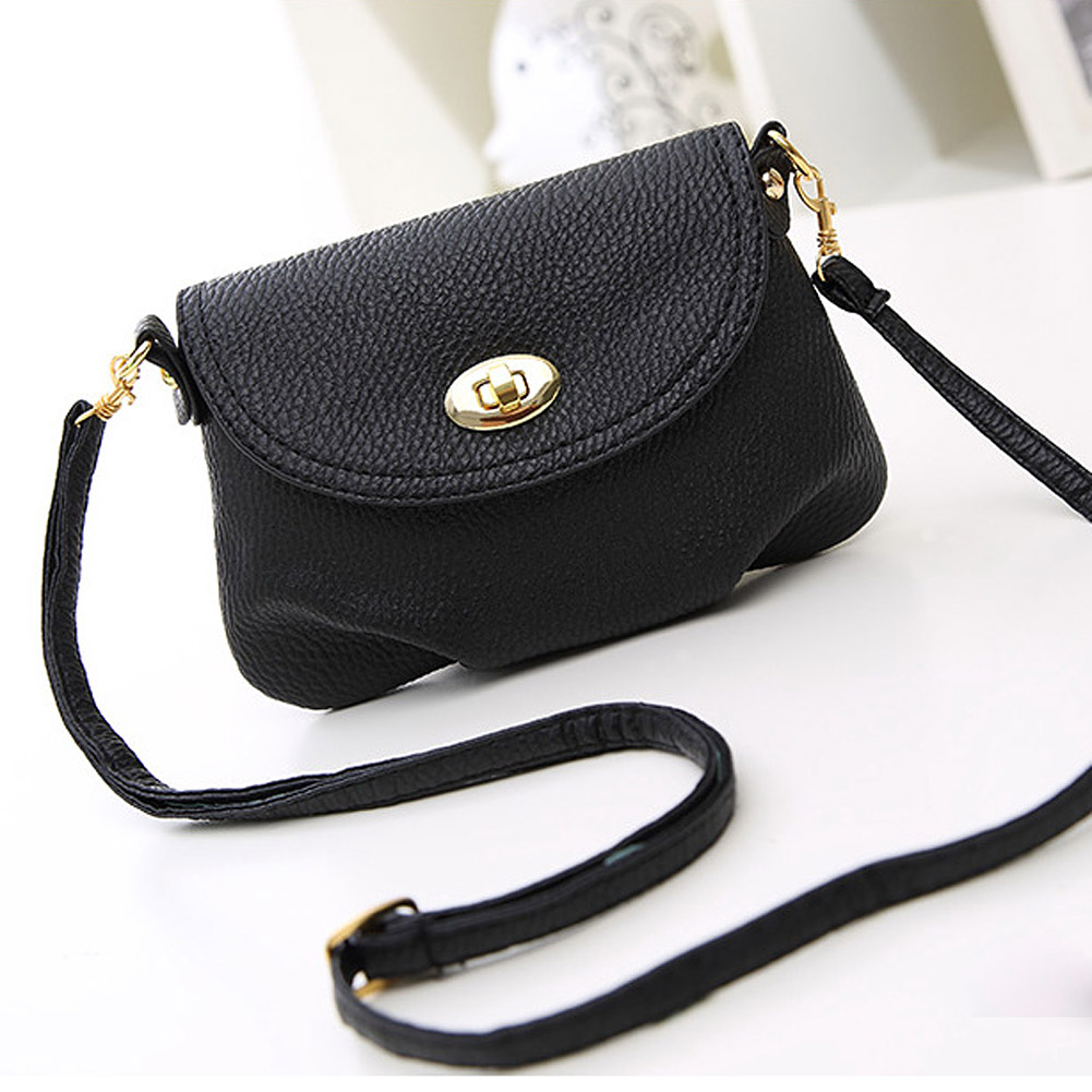 2017 Hot Sale Simple Fashion Women 39 s Cute Wallets Crossbody Retro Small Bags Solid Color Female PU Leather Bag LXX9 in Top Handle Bags from Luggage amp Bags