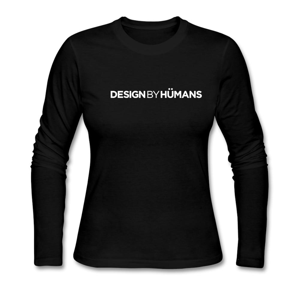 Shirts human design - Nowy D Ugi R Kaw Projekt Przez Ludzi Bia Y Okr G Y Dekolt Bawe Na Organiczna Kobiet T Koszula Cheap