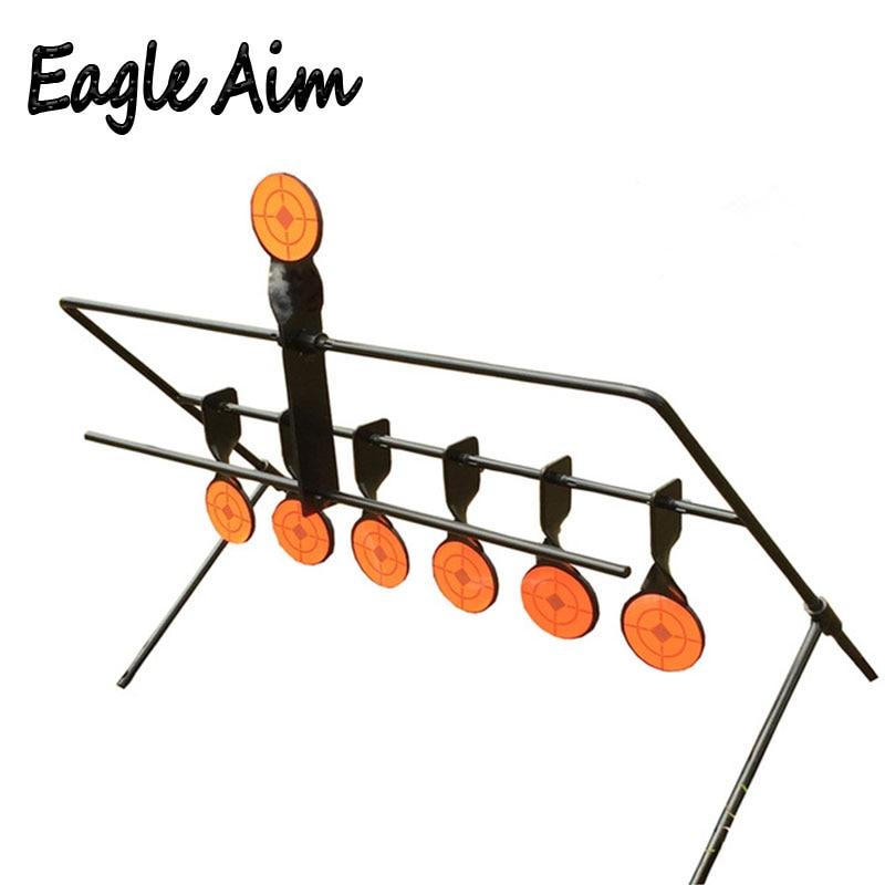 Airgun Airsoft compétence tactique/extérieur et intérieur cible de réinitialisation à 7 plaques/pour tir à l'arc Paintball/améliorer le tir de chasse