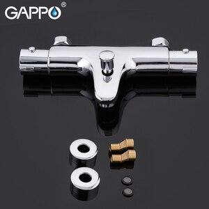 Image 5 - GAPPO mitigeur de bain thermostatique avec robinets de douche, mitigeur de bain à cascade mural Y30504