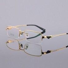 New pure silica gel titanium halfi-rim male brand eyeglasses eyewear frames men myopia business lentes spectacle Oculos