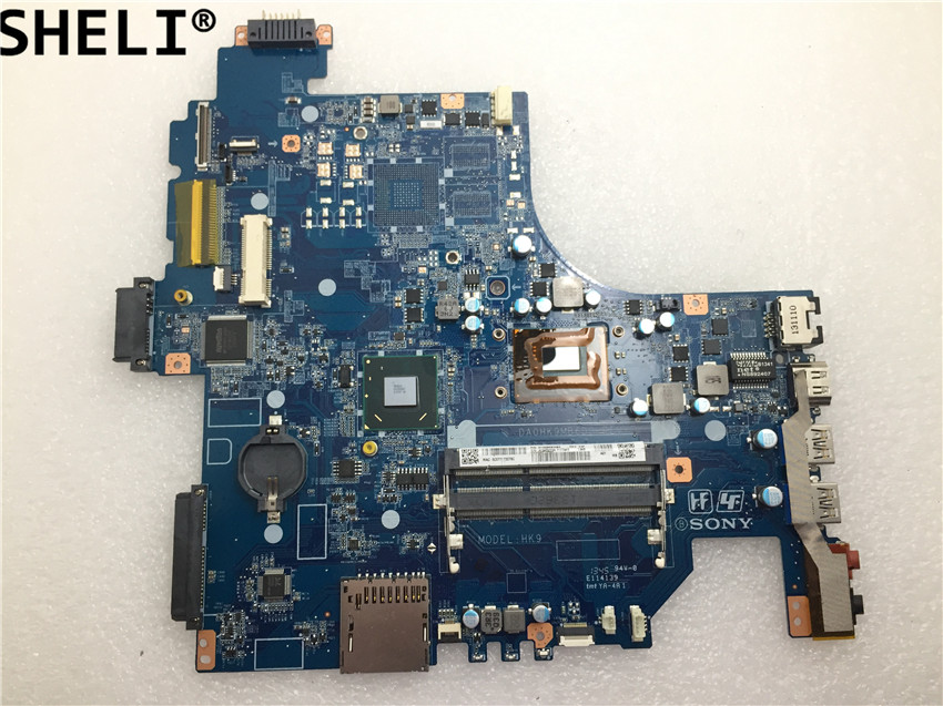 SHELI For Sony  SVF152 Laptop  Motherboard With  SR0VQ 2117U DA0HK9MB6D0
