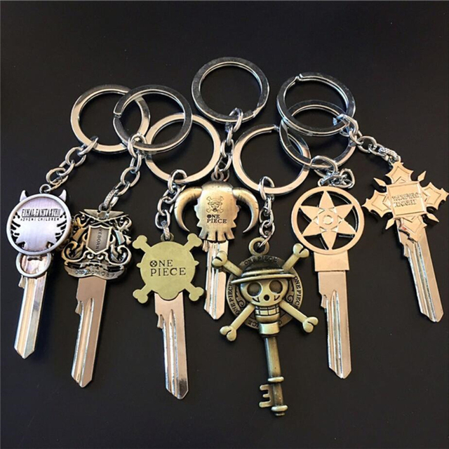 One Piece Key Chain Zinc Alloy Key Ring