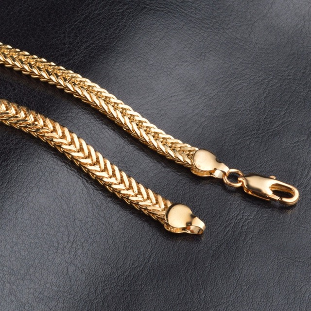 18K Gold Plated Vintage Men's Chain Necklace 4