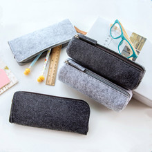NOVERTY Creative Felt pencil case kawaii Cute plush Pencil Storage Bag School Office Stationery Supplies penalty Estuches 04934