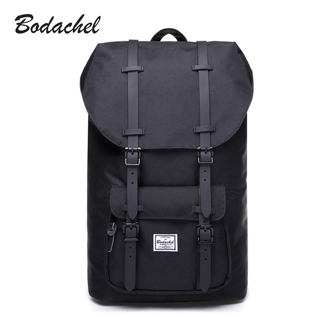Bodachel Travel Backpack for Men 15.6'' Notebook Laptop Backpack Male Large Capacity Drawstring Knapsack Tourist sac a dos homme
