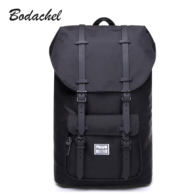 Bodachel Travel Backpack for Men 15.6'' Notebook Laptop Backpack Male Large Capacity Drawstring Knapsack Tourist sac a dos homme