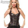 leather harness court shaper overbust corselet waste trainer women sexy lingerie erotic top bodice corsage Bustier dress