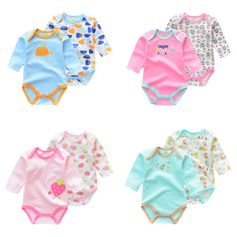 2pcs Baby Rompers Newborn Baby Boy Girls Clothes Long Sleeve Baby Clothing  Roupa Infantil Body Bebes Next Jumpsuit baby rompers costumes fleece for newborn baby clothes boy girl romper baby clothing overalls ropa bebes next jumpsuit clothes