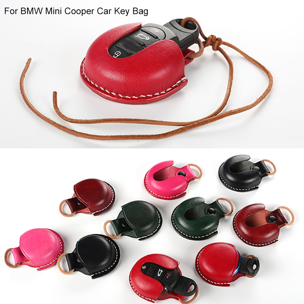 For BMW Mini Cooper R55 R56 R57 R60 R61 New F55 F56 F54 F60 F57 Genuine Leather Car <font><b>Key</b></font> Bag Case Cover Fob Holder Car Styling