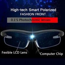 0.1`s Color Change Intelligent Photochromic Sunglasses Men Frontier Decoration Designer Women Sunglass With Prescription Clips
