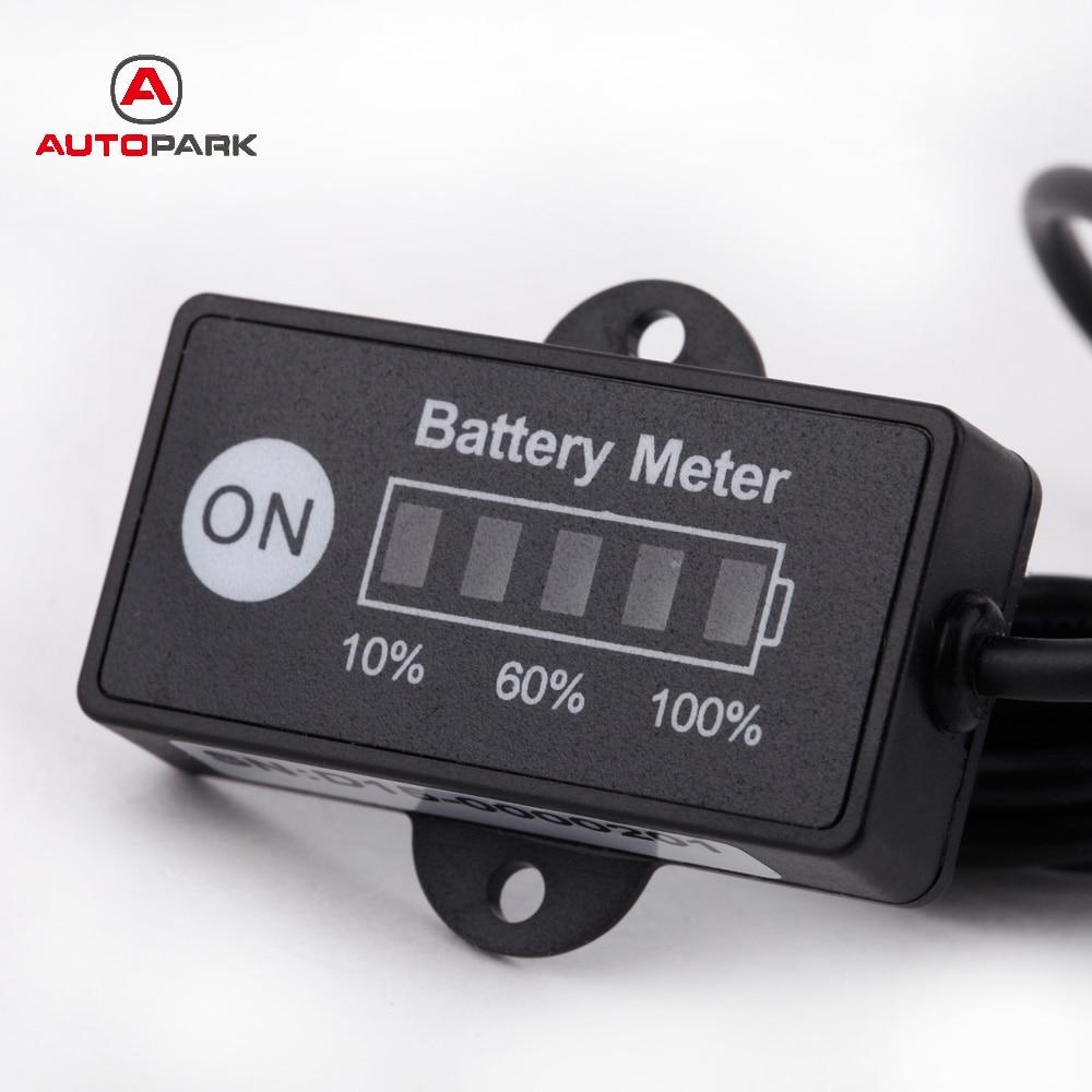 universal led battery capacity indicator tester auto car battery level meter gauge  lead acid