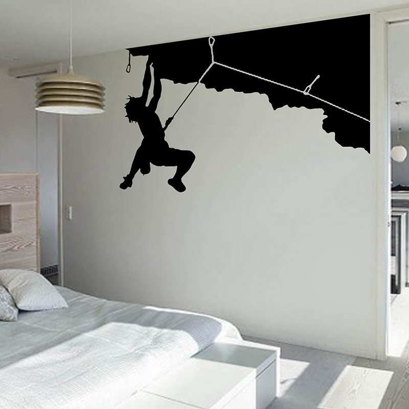 Rock climbing sticker climbers decal named posters vinyl for Cheap wall mural posters