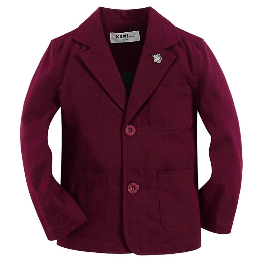 nieuwe collectie zacht geweven katoen 100% jongensblazer BB201602 - Kinderkleding