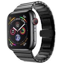 316L ремешок из нержавеющей стали для Apple watch Band 38 мм 42 мм 40 мм 44 мм Бабочка Пряжка ремешок для iWatch band Series 1 2 3 4