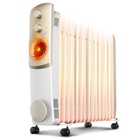 Household Powerful Electric Heater Fast Outdoor Home Heater With 15 Oil Filled Electric Heating Stove Clothes