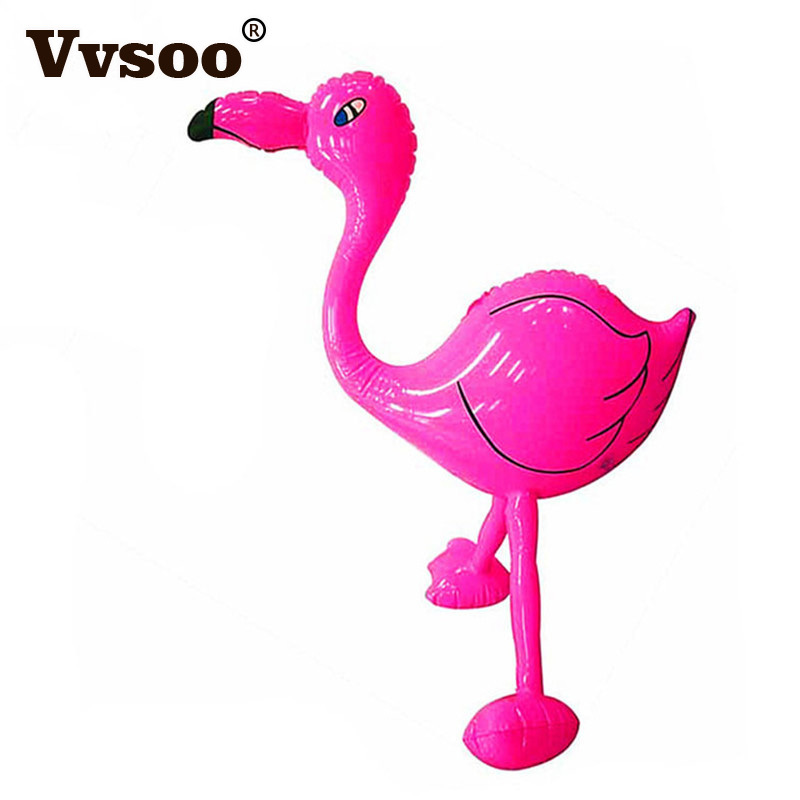 Vvsoo Inflatable Flamingo Animal Toy For Kid Gifts PVC Inflatable Bird Summer Tropical Party Wedding Decor Pool Stage Suppiles