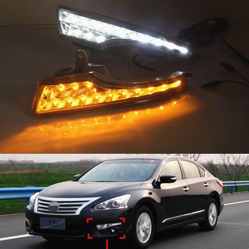 Car Flashing 1set For Nissan Altima Teana 2013 2016 LED DRL Daytime Running Light Driving Daylight